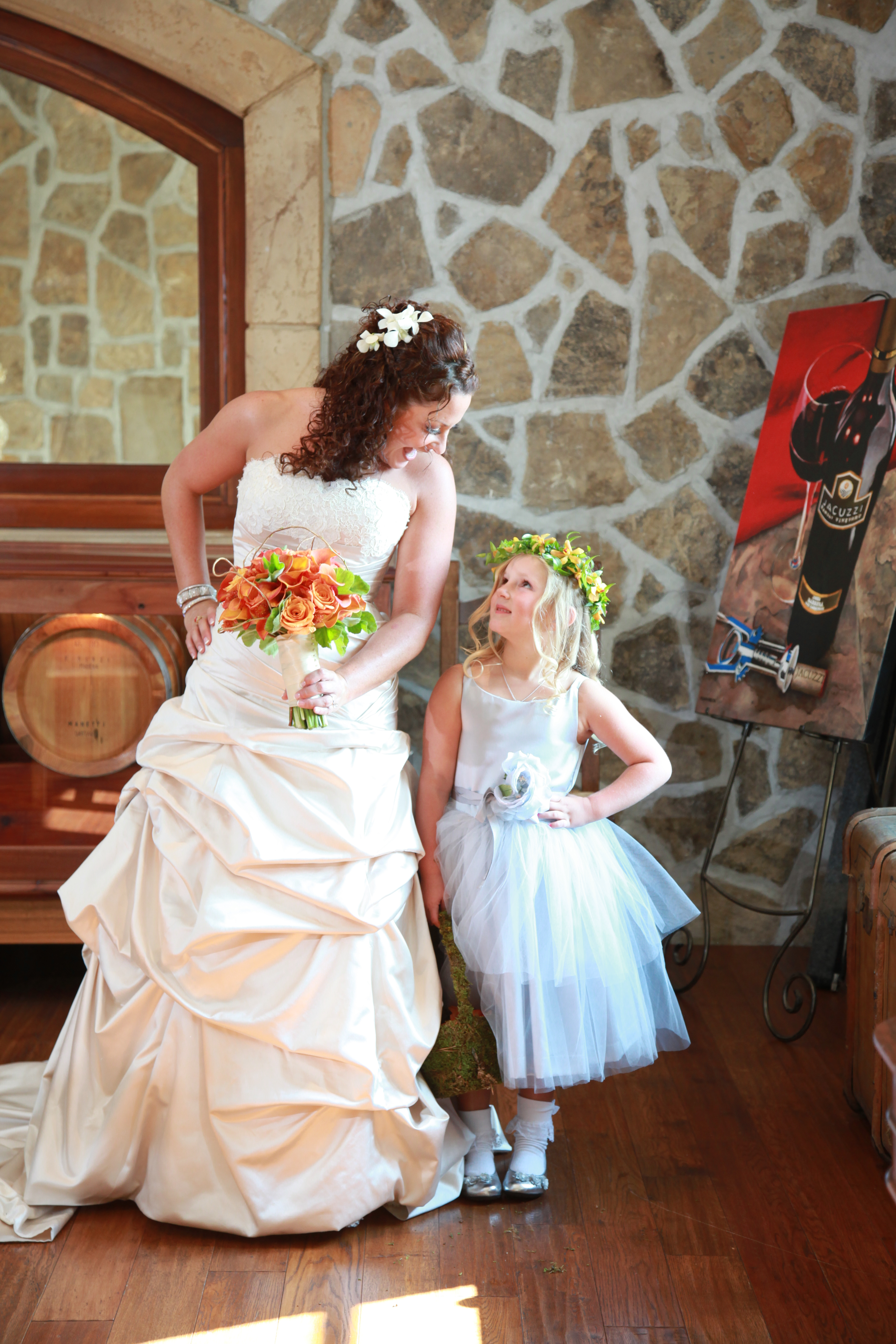 Jacuzzi Vineyards Bride and flower girl