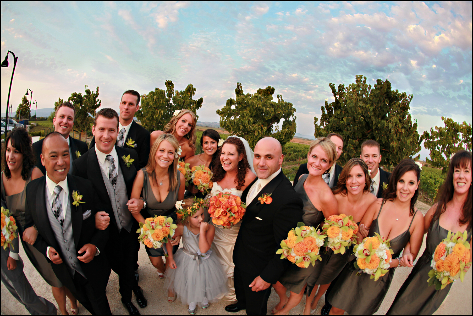 Jacuzzi vineyards bridal party