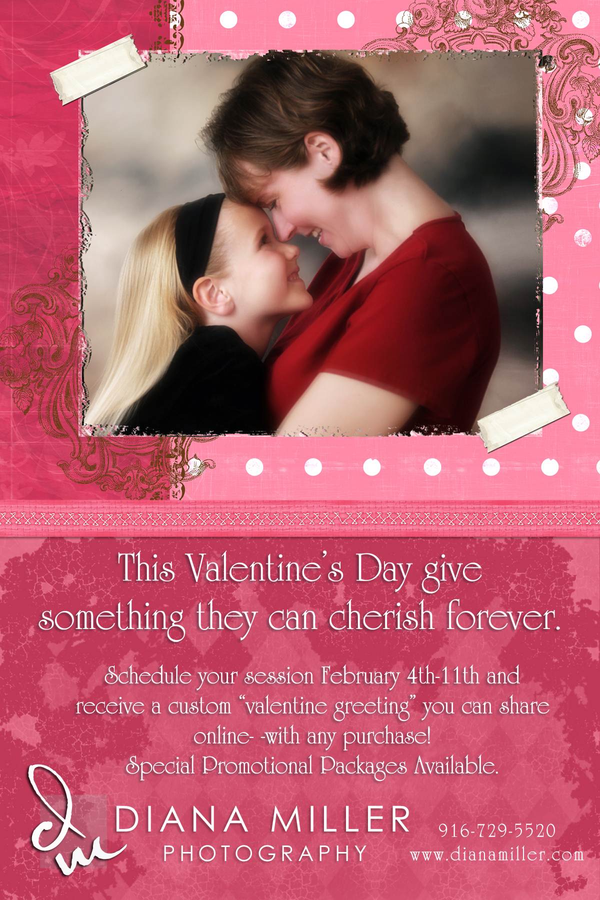Portrait specials for valentine's day