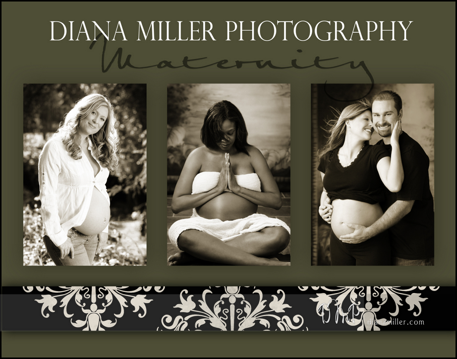 A trio of maternity portraits