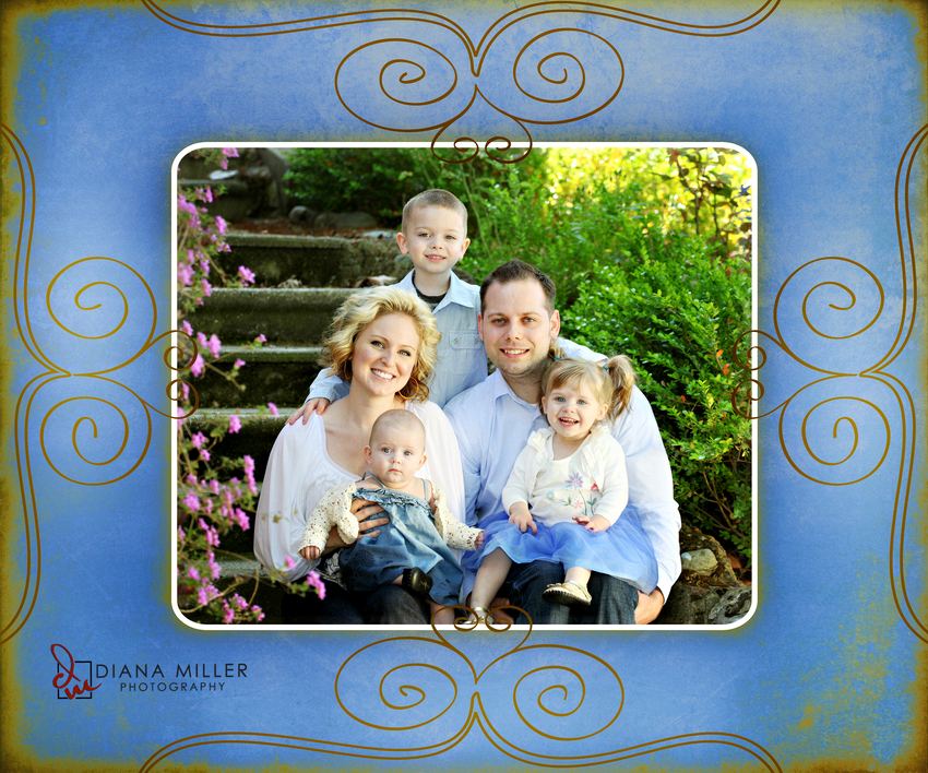 Sacramento Family Portraits taken outside by Diana Miller Photography