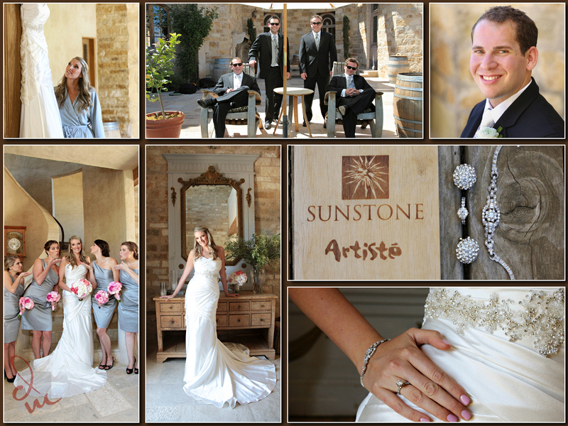 Wedding collage from Sunstone Winery