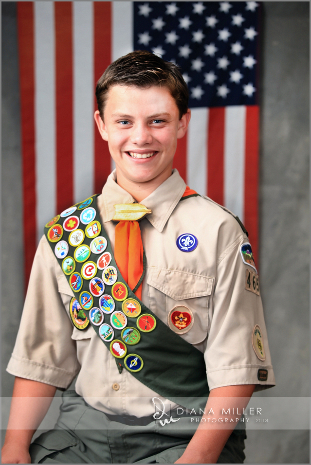 Portrait of an Eagle Scout in Sacramento, CA
