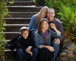 playful Sacramento Family Portrait outside