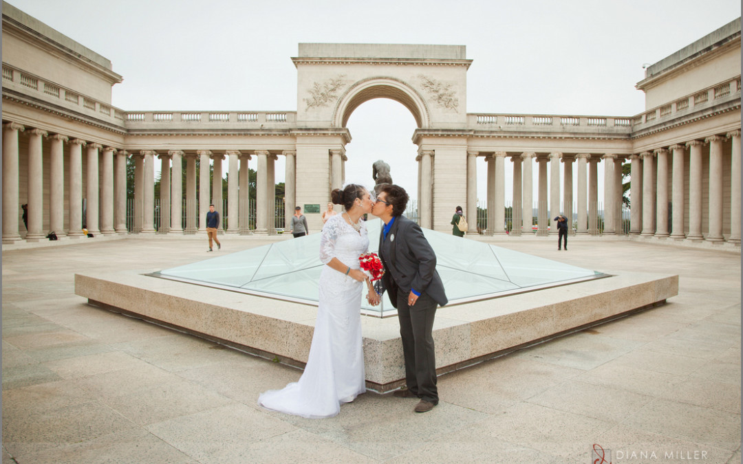 Outdoor wedding at the Legion of Honor in San Francisco