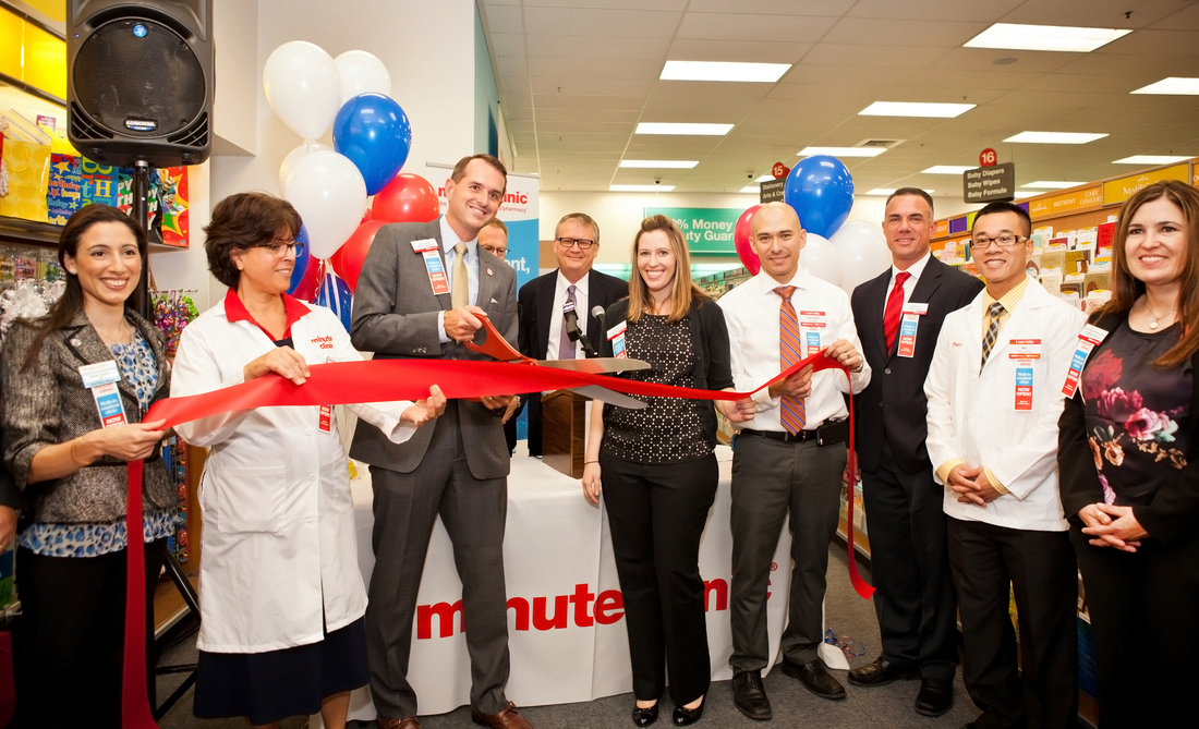 Grand opening of Minute Clinic inside CVS Pharmacy, Florin Road, Sacramento CA