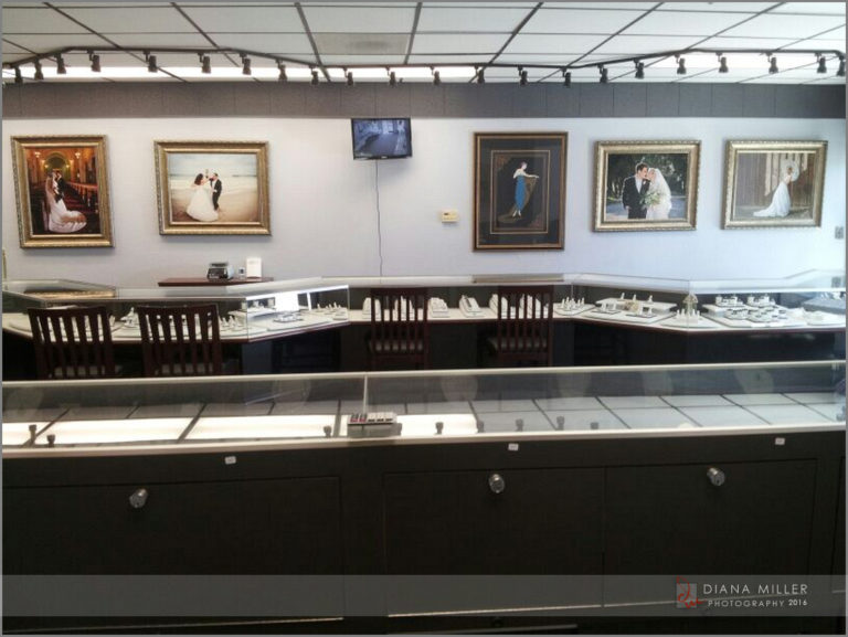 Diana Miller Photography Display at Rossi Jewelers