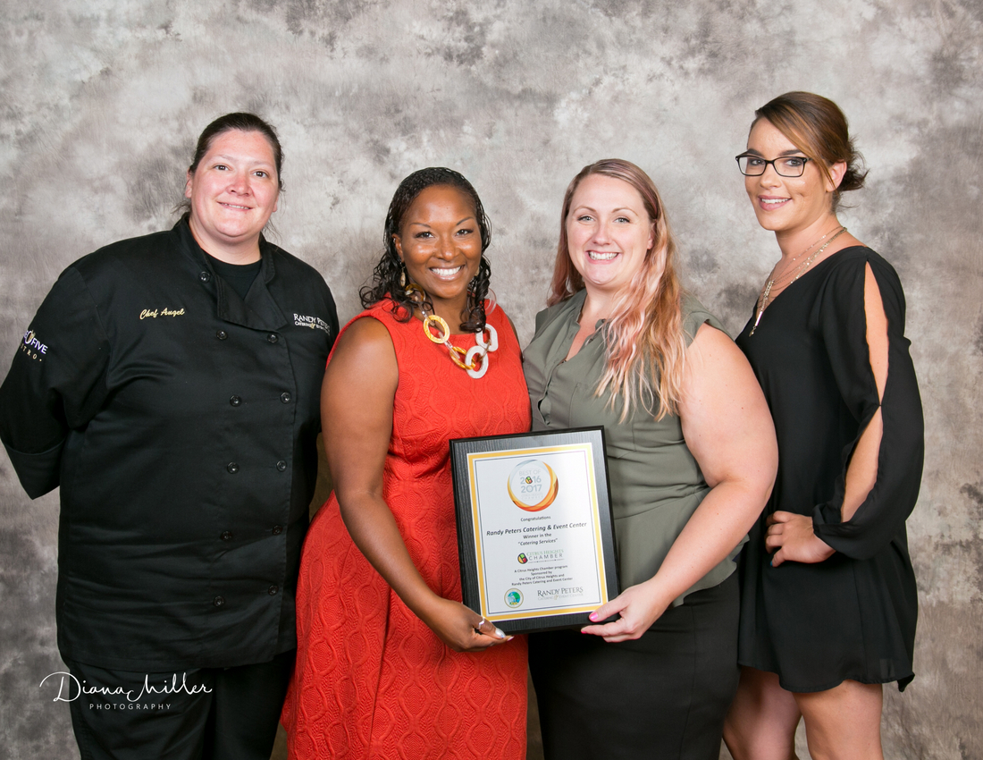 Randy Peter's Catering with Award